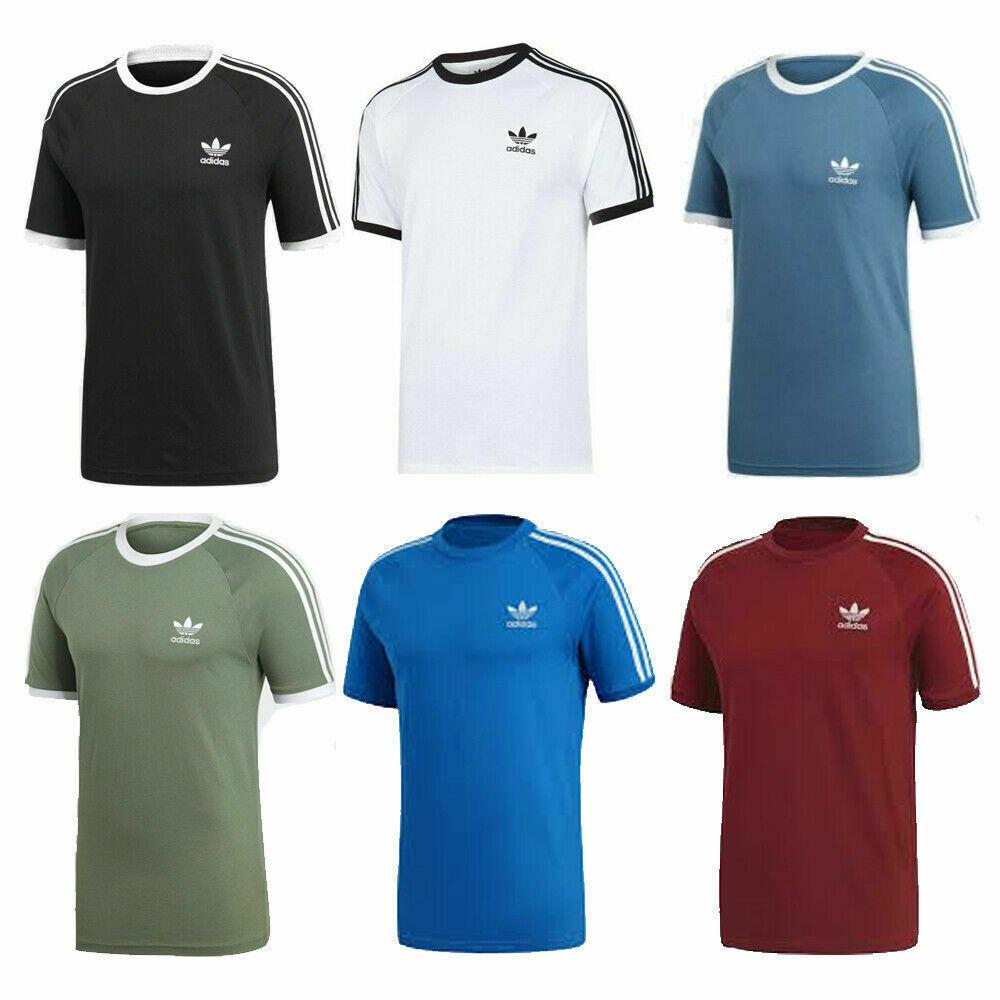 adidas Herren kurzärmliges Shirt Essentials 3 Stripes Crew