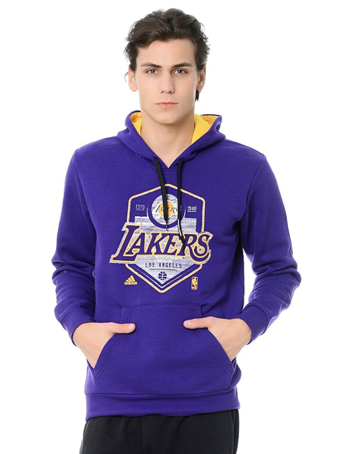 Détails sur Adidas Sports NBA Los Angeles Lakers Lebron James Capuche Pull Pull Neuf